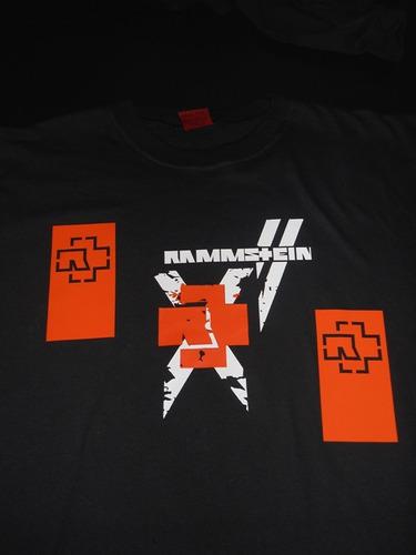 karmald remeras rammstein - 66 modelos - 1 ra calidad