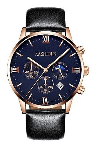 kashidun relojes de pulsera impermeables para hombre casual
