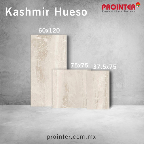 kashmir hueso | porcelanato mármol 37.5x75 rectificado