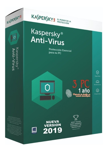 kaspersky antivirus 3pc 1 año original