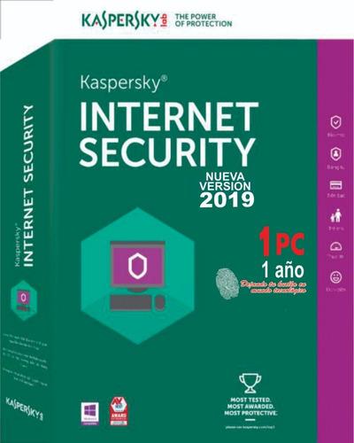 kaspersky internet security 1 pc 1 año