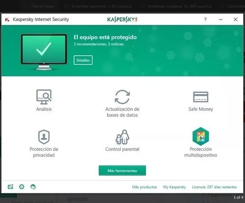 kaspersky internet security 2019 1 pc 1 año