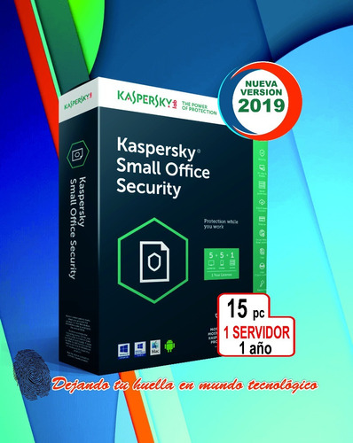 kaspersky small office security 1servidor 15pc 1año