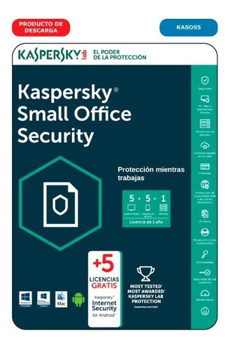 kaspersky small office security 2017 5 pc + server factura a