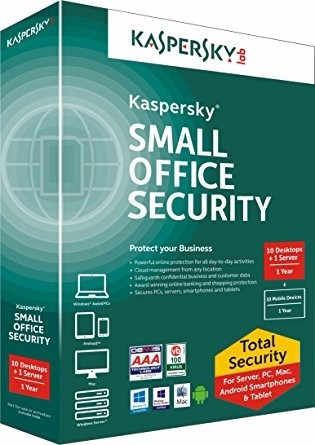 kaspersky small office security v5 1 servidor + 15 pcs 1 año
