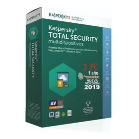 Kaspersky Total Security 3 Pc 1 Año Original