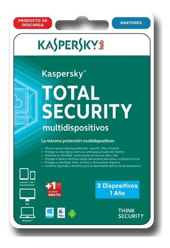 kaspersky total security 3 pc 1 año windows mac android