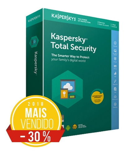 kaspersky total security multidisp 2019 5 pcs envio imediato