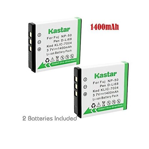 kastar 2x baterías fujifilm np-50 ac-50 ac-45w fuji finepix