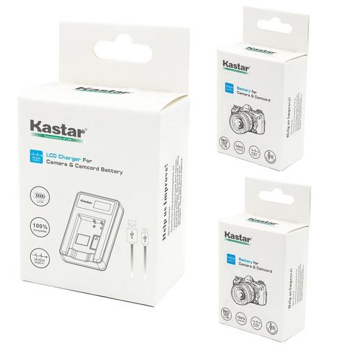 kastar battery (x2) y lcd dual slim charger para nikon en-el