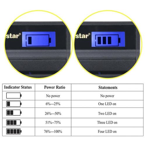 kastar lcd cargador slim usb para nikon en-el15, nikon d850,