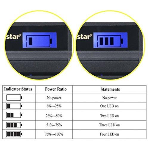 kastar lcd cargador slim usb para sony np-bn1 npbn1 bc-csn