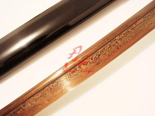katana aço dobrado rajado espada samurai com corte afiada