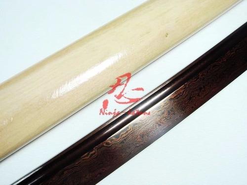 katana aço dobrado rajado forjada original fio corte