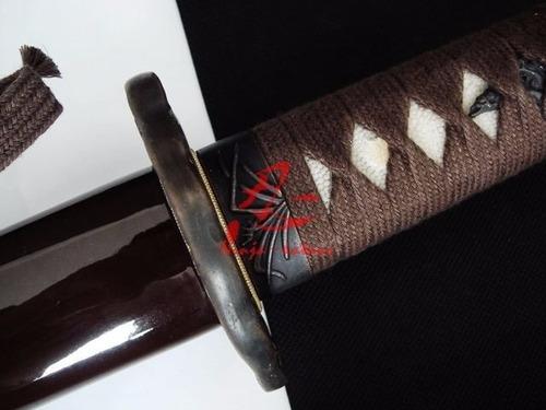 katana com corte espada samurai tradicional aço carbono
