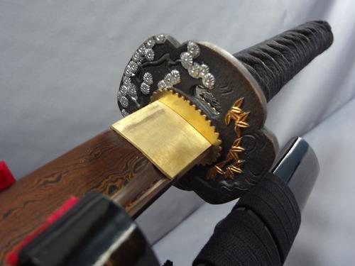 katana damascus tono cobre doblada 10 veces con 1024 capas