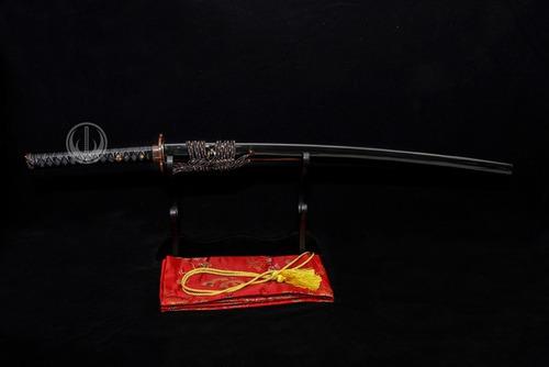 katana espada funcional forjada aço dobrado rajado afiada