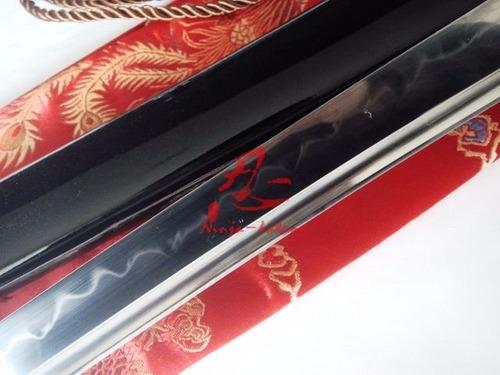 katana espada samurai forjada aço carbono t10 fio corte
