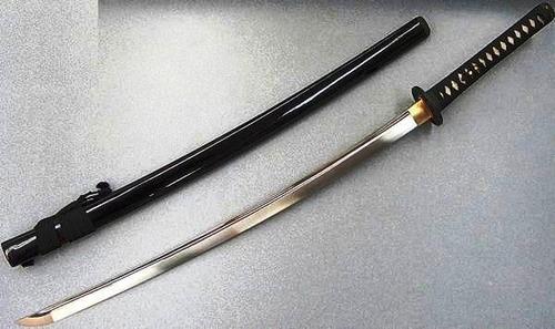 katana, espada samurai y caja. combate japones 104cm