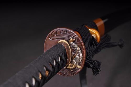 katana forjada aço t10 espada samurai com fio tradicional