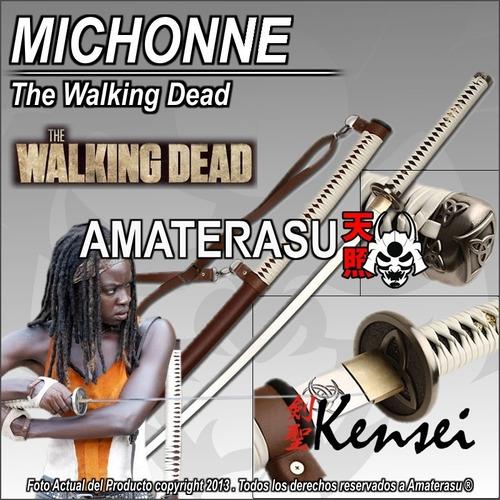 katana kensei michonne the walking dead full tang filo extr.