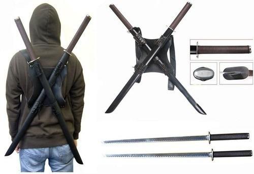 katana leonardo tartarugas ninja suporte kit 2 espadas 100cm
