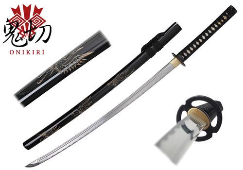 katana onikiri crane con certificado 100% funcional espadas