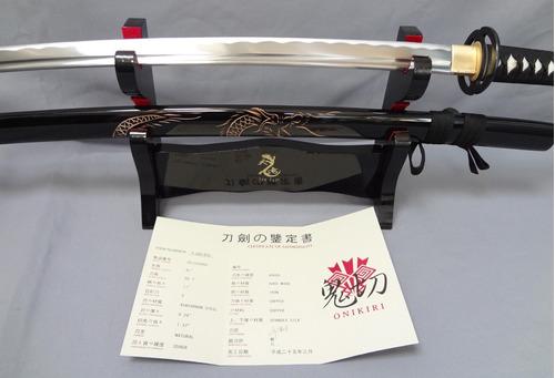 katana onikiri dragon 100% funcional full tang espadas dagas