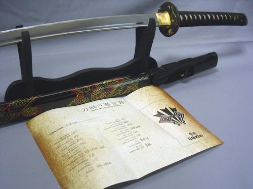 katana onikiri dragon con certificado 100% funcional espadas