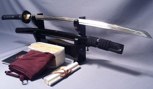 katana ryumon acero doblado/templado hamon 100% real espadas
