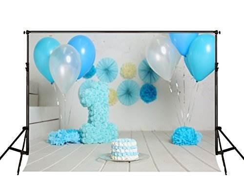 kate 7ft (w) x5ft (h) 1st birthday telón de fondo para boy m
