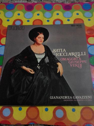 katia ricciarelli lp'72 omaggio a giseppe verdi. rome italy.