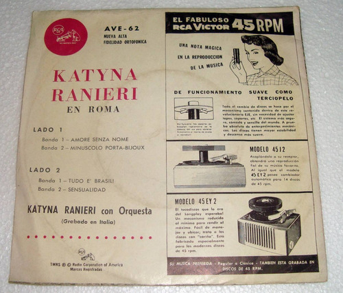 katyna ranieri en roma simple c/tapa argentino