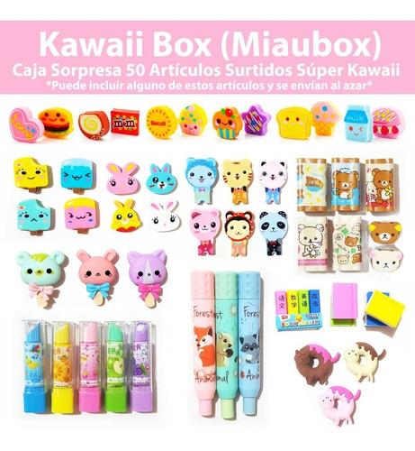 kawaii box miaubox caja bonita 50 artículos surtido regalo