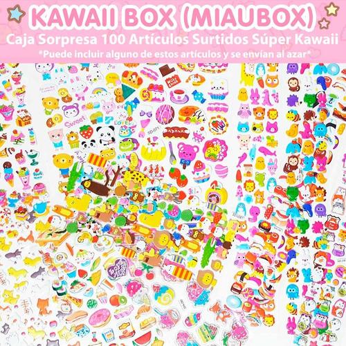 kawaii box miaubox especial 100 artículos surtido regalo