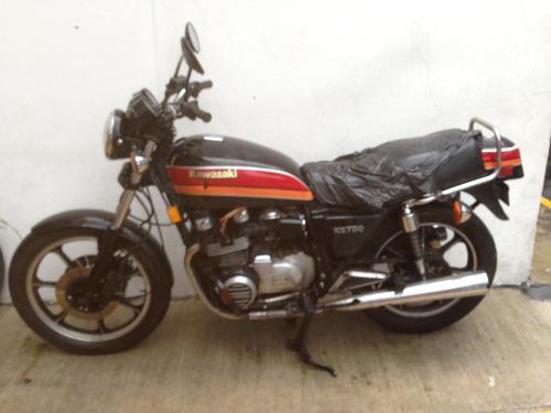 kawasaki classica rkz 750 cc 1981 con tajeton  del registro
