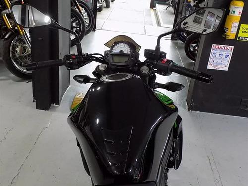 kawasaki er6n negra y verde 2016