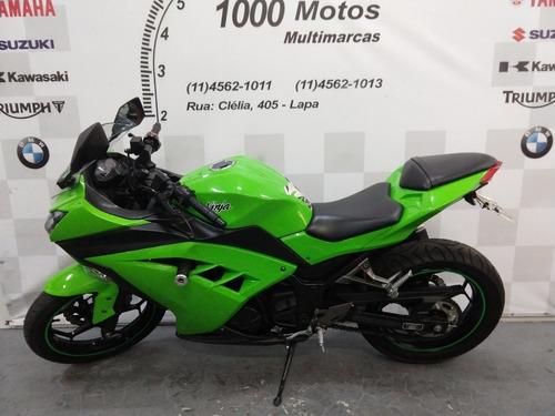 kawasaki ninja 300 2013 otimo estado aceito moto