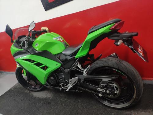 kawasaki ninja 300 2013 verde