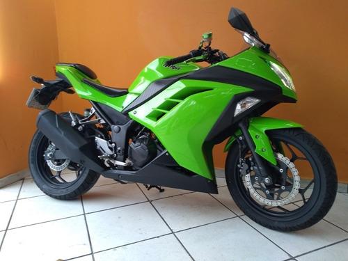 kawasaki ninja 300 2014 verde