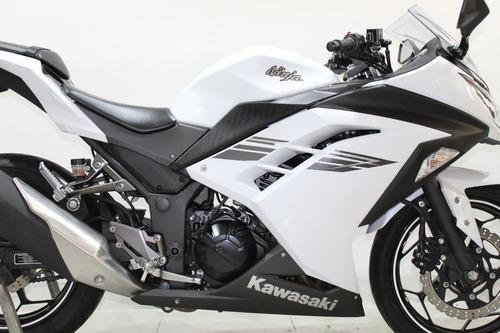 kawasaki ninja 300 2017 branco