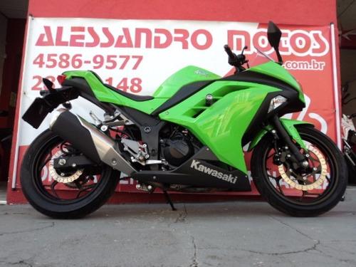kawasaki ninja 300 r 2015 verde alessandro motos jundiai