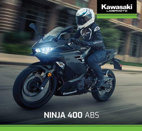 kawasaki ninja 400 abs   2020  exclusivo lidermoto