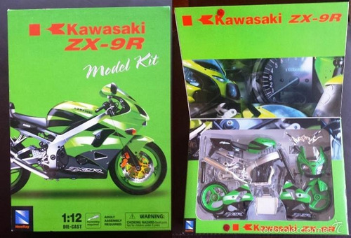 kawasaki ninja zx- 9r 1/12 newray. nueva para armar.
