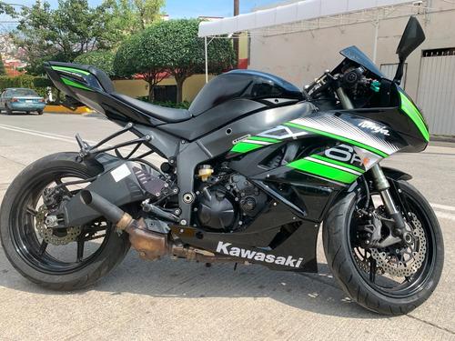 kawasaki ninja zx6r 636 modelo 2009... preciosa !!!