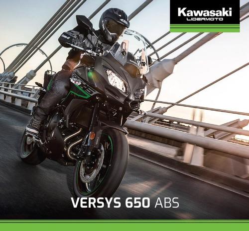 kawasaki versys 650 abs  2020  exclusiva de lidermoto