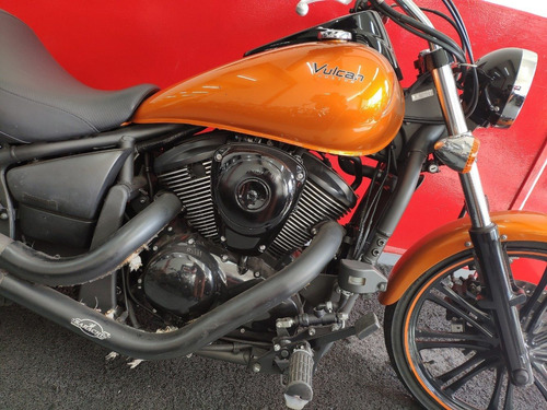 kawasaki vulcan 900 custom ct 2012 laranja