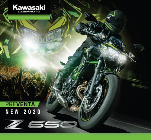 kawasaki z650 abs z650 er6n 2020  exclusivo lidermoto