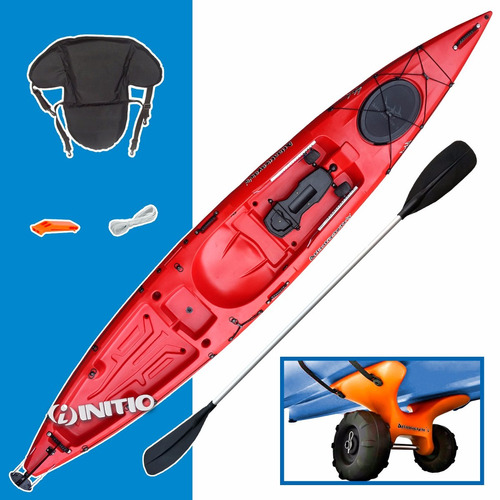 kayak angler atlantikayak pesca travesia + carro - initio