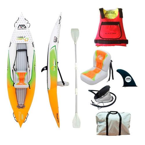 kayak canoa inflable de aqua marina betta + salvavidas